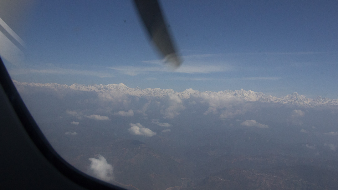 Mountains on Lukla Flights
