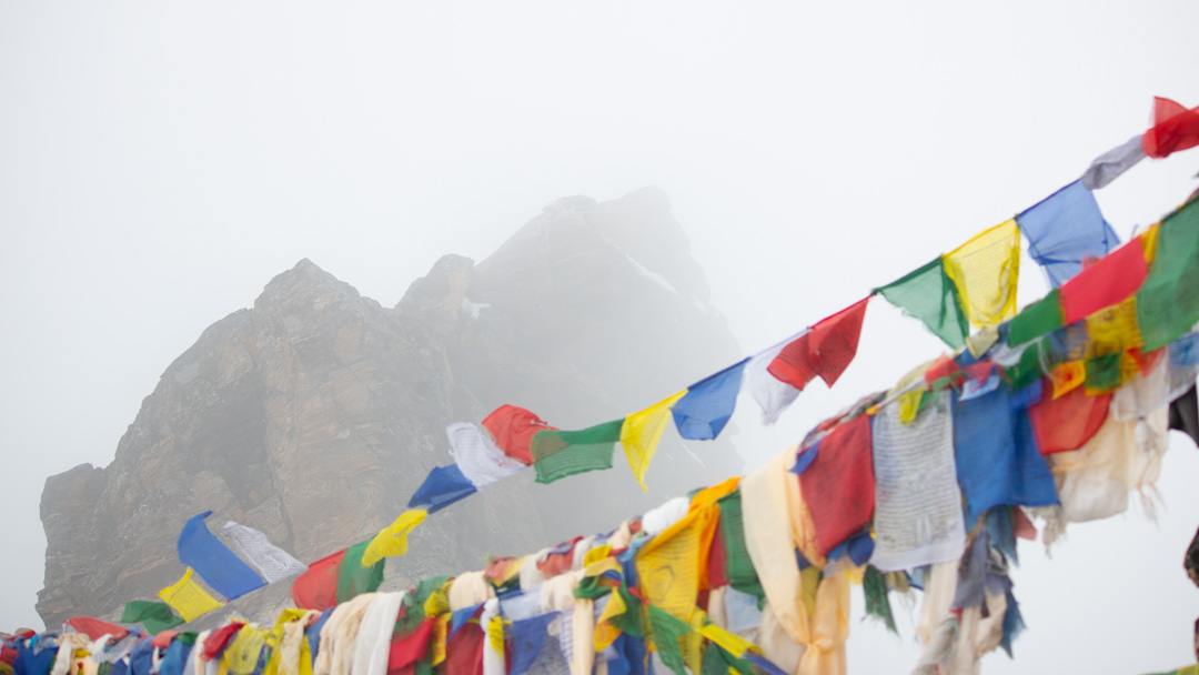 Prayer Flags and clouds