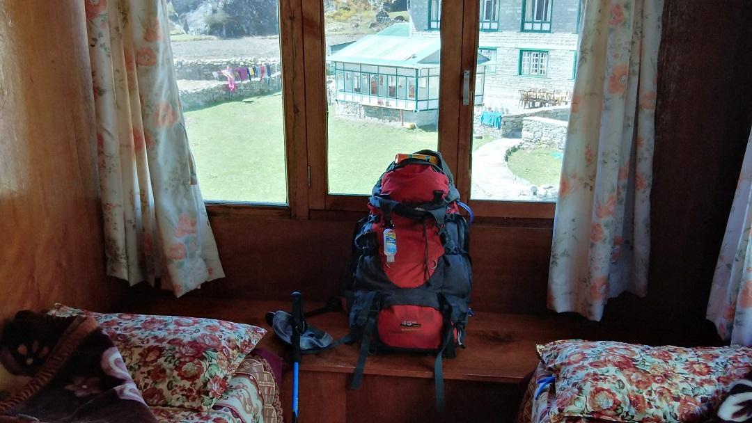 A trekkers backpack