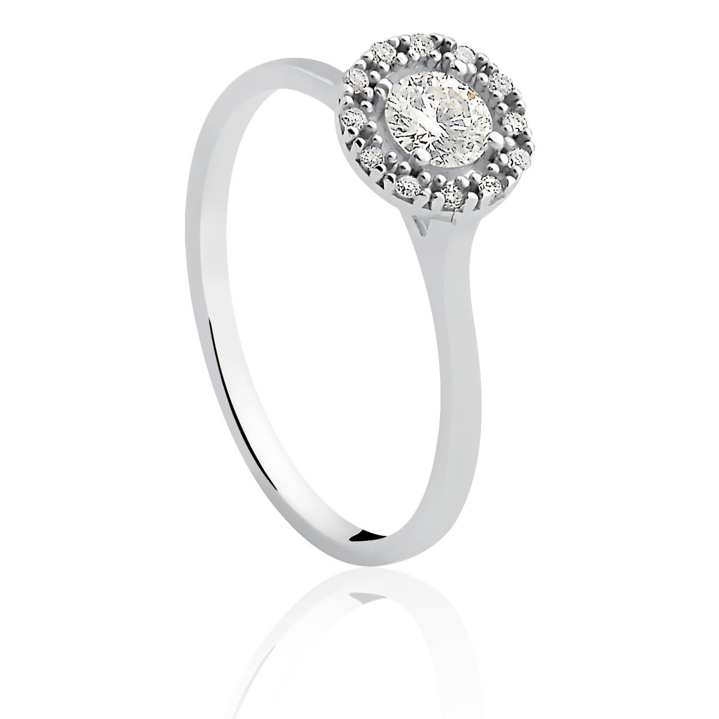 3f78cfbdab560 Anel solitário ouro branco e diamante   Compra e Volta