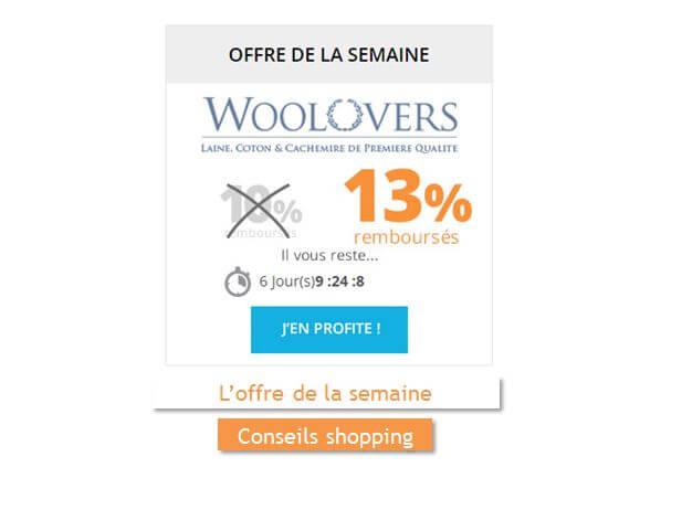 wool overs est l 39 offre de la semaine sur remises et. Black Bedroom Furniture Sets. Home Design Ideas