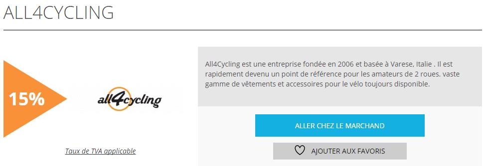 all4cycling est l offre de la semaine sur remises et r ductions blog remises et r ductionsblog. Black Bedroom Furniture Sets. Home Design Ideas