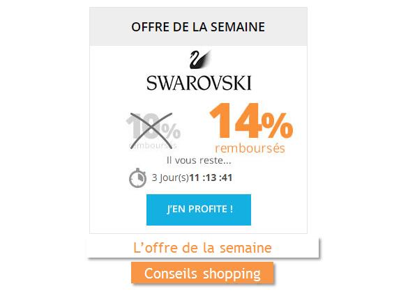 swarowski offre de la semaine