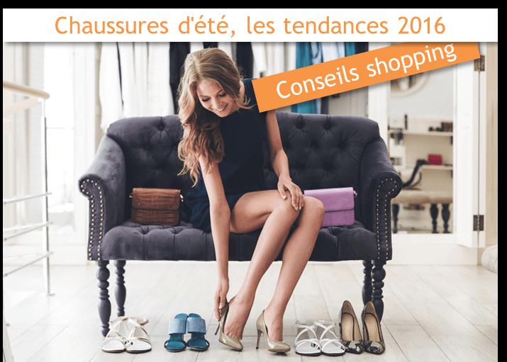 Chaussures d'été les tendances 2016