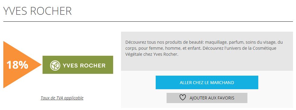 Yves Rocher est l'offre de la semaine sur Remises et reductions