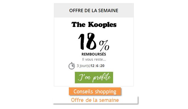 the kooples est l'offre de la semaine sur remises et reductions