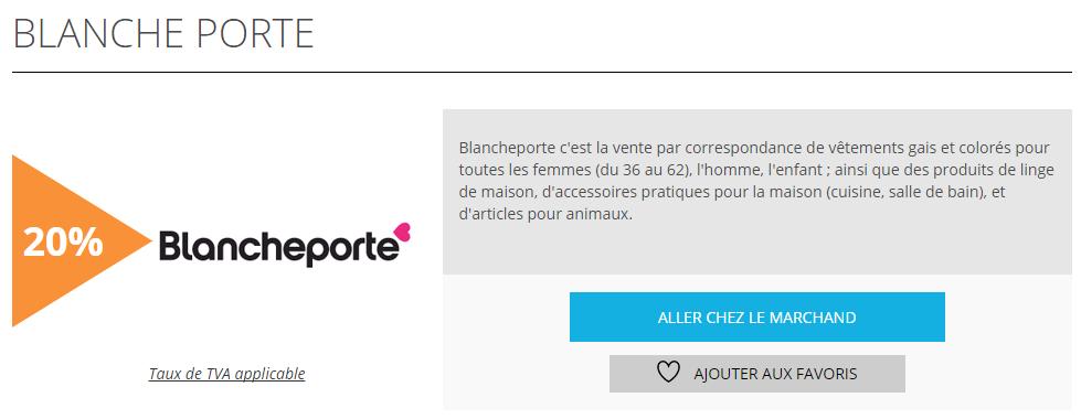 Blancheporte fiche produit remisesetreductions.fr
