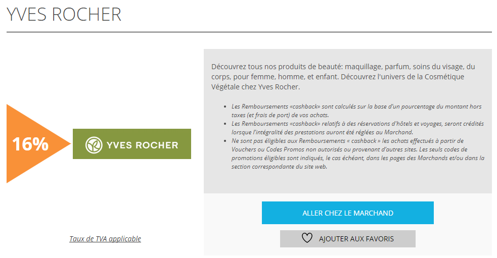 Yves rocher offre remises et reductions