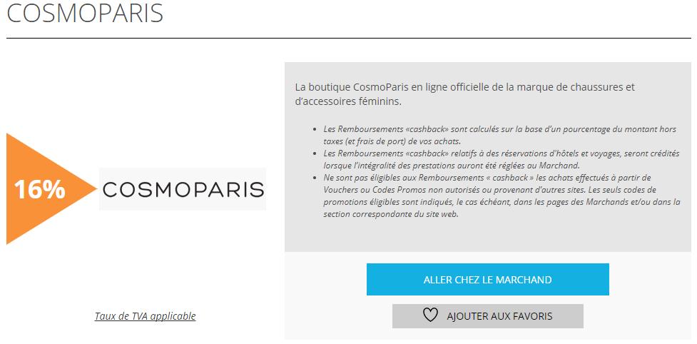 CosmoParis est l'offre de la semaine sur remises et reductions