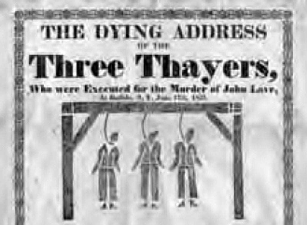 The Execution of the Thayers