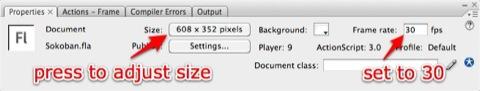 Adjusting the flash size