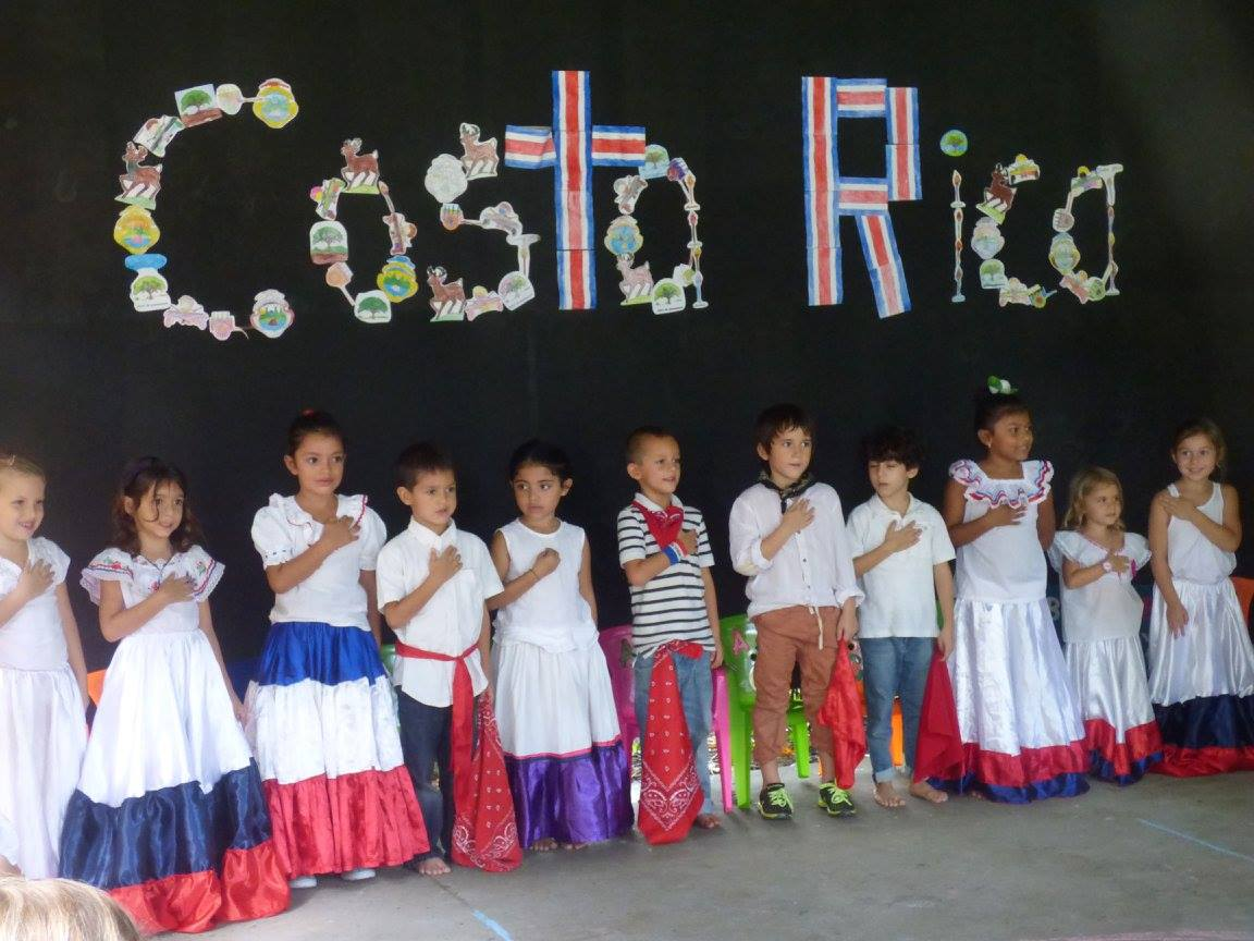 Children celebrating Costa Rica Independence