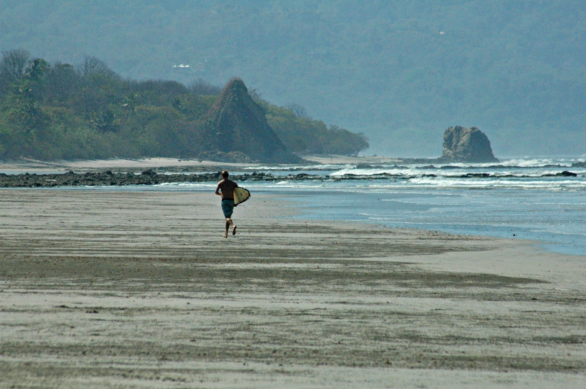 Surfer on Playa Hermosa