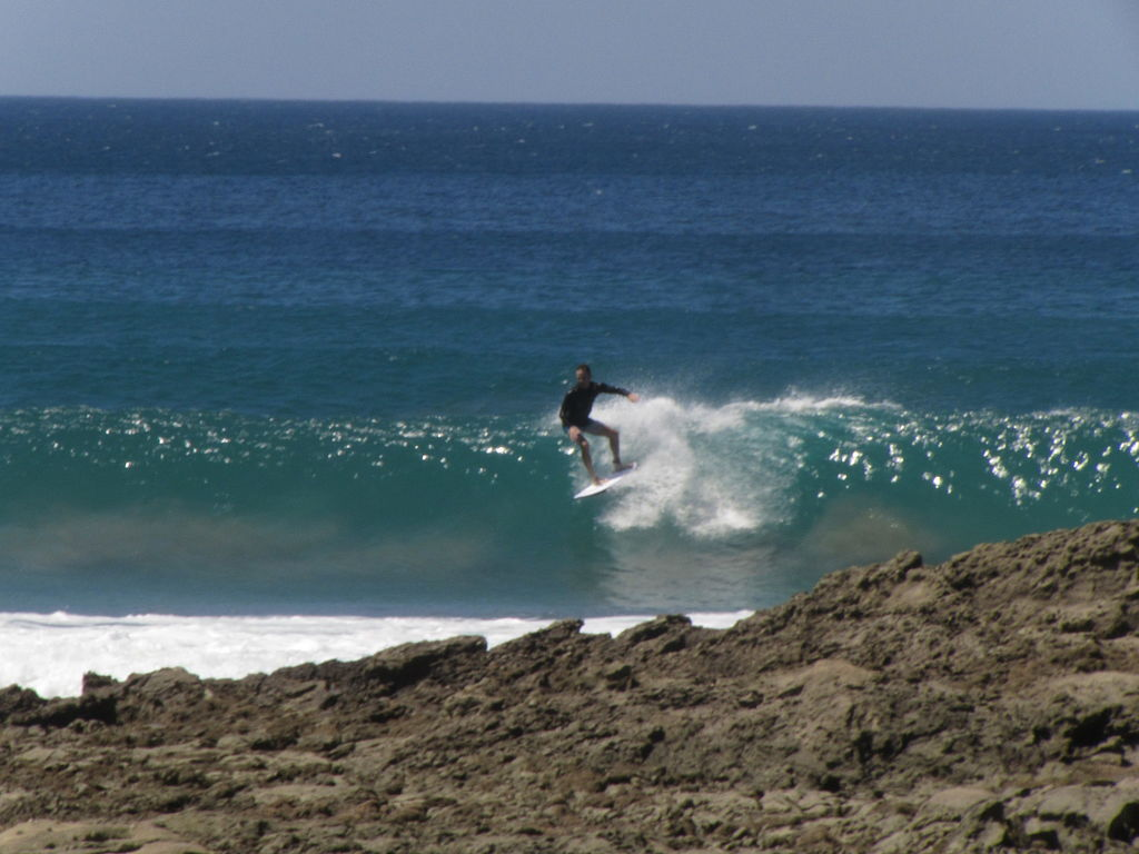 Costa Rica Beach and Surfer