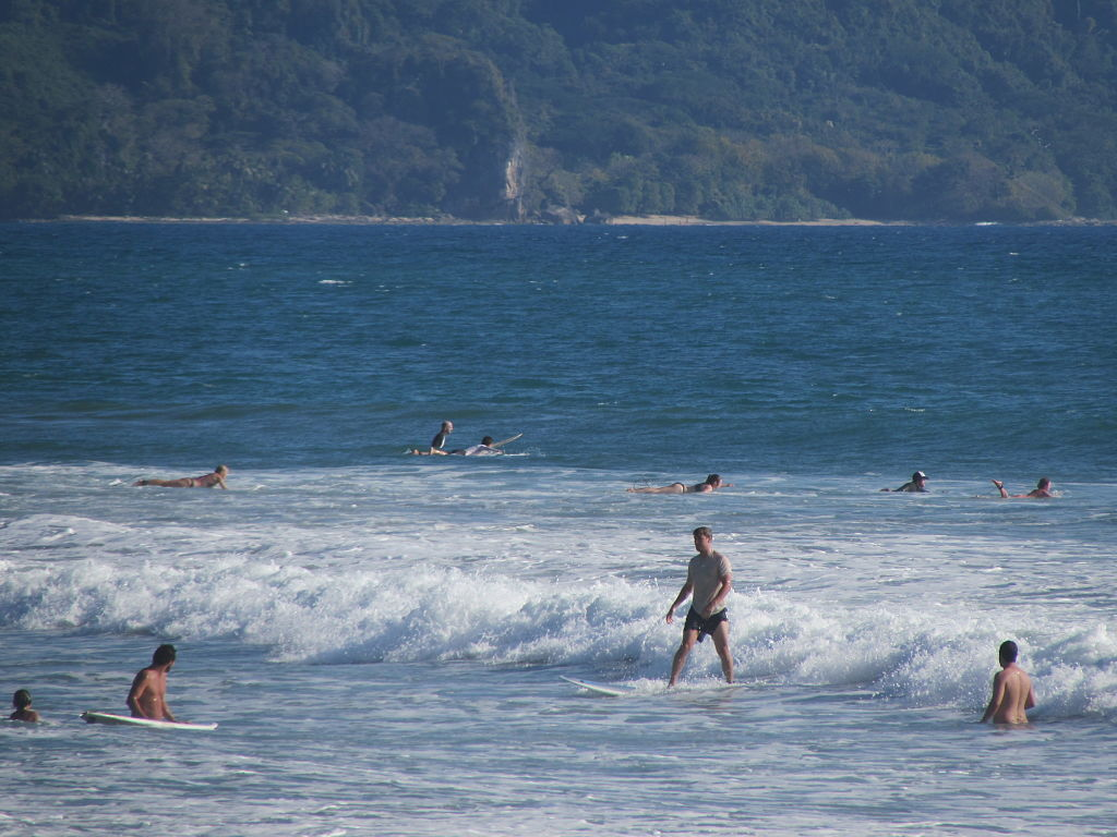 Surfers in Santa Teresa Costa Rica