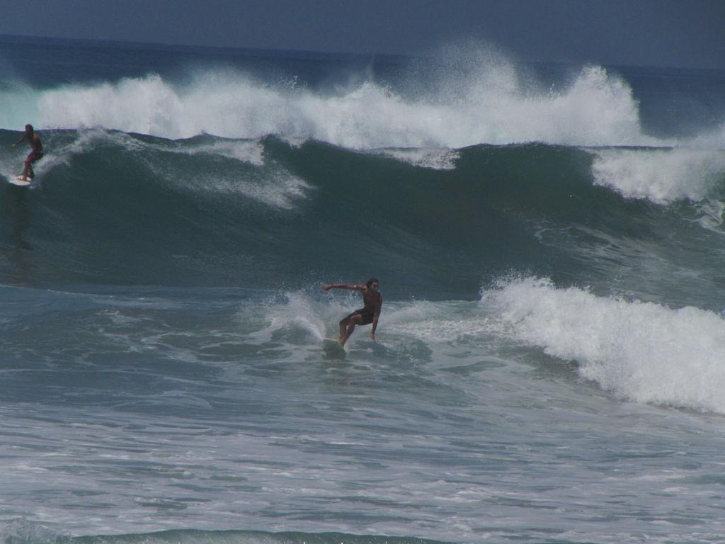 Surfers in Santa Teresa