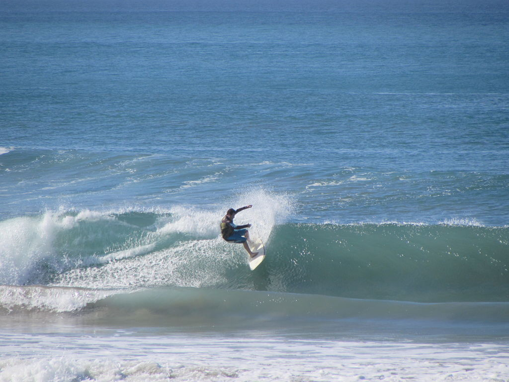 Surfing at Blue Surf Sanctuary