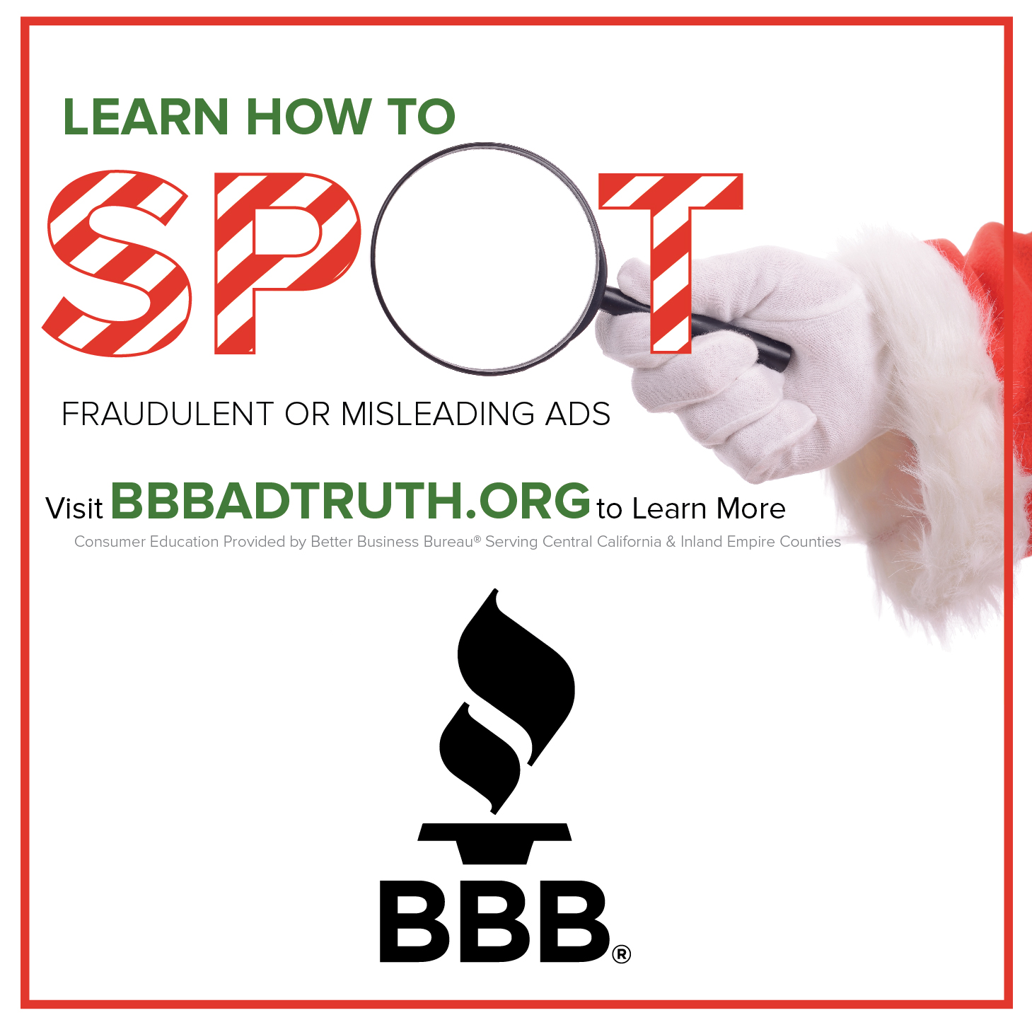 bbb serving central california & inland empire counties: start with
