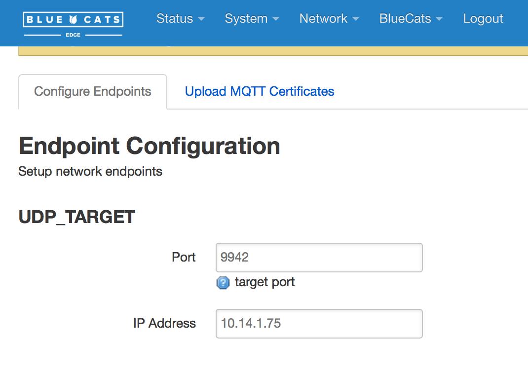 Endpoint UDP