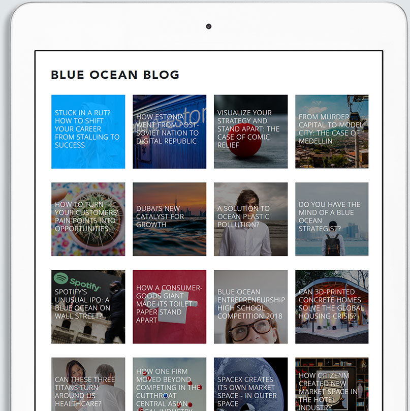 how to create blue ocean strategy