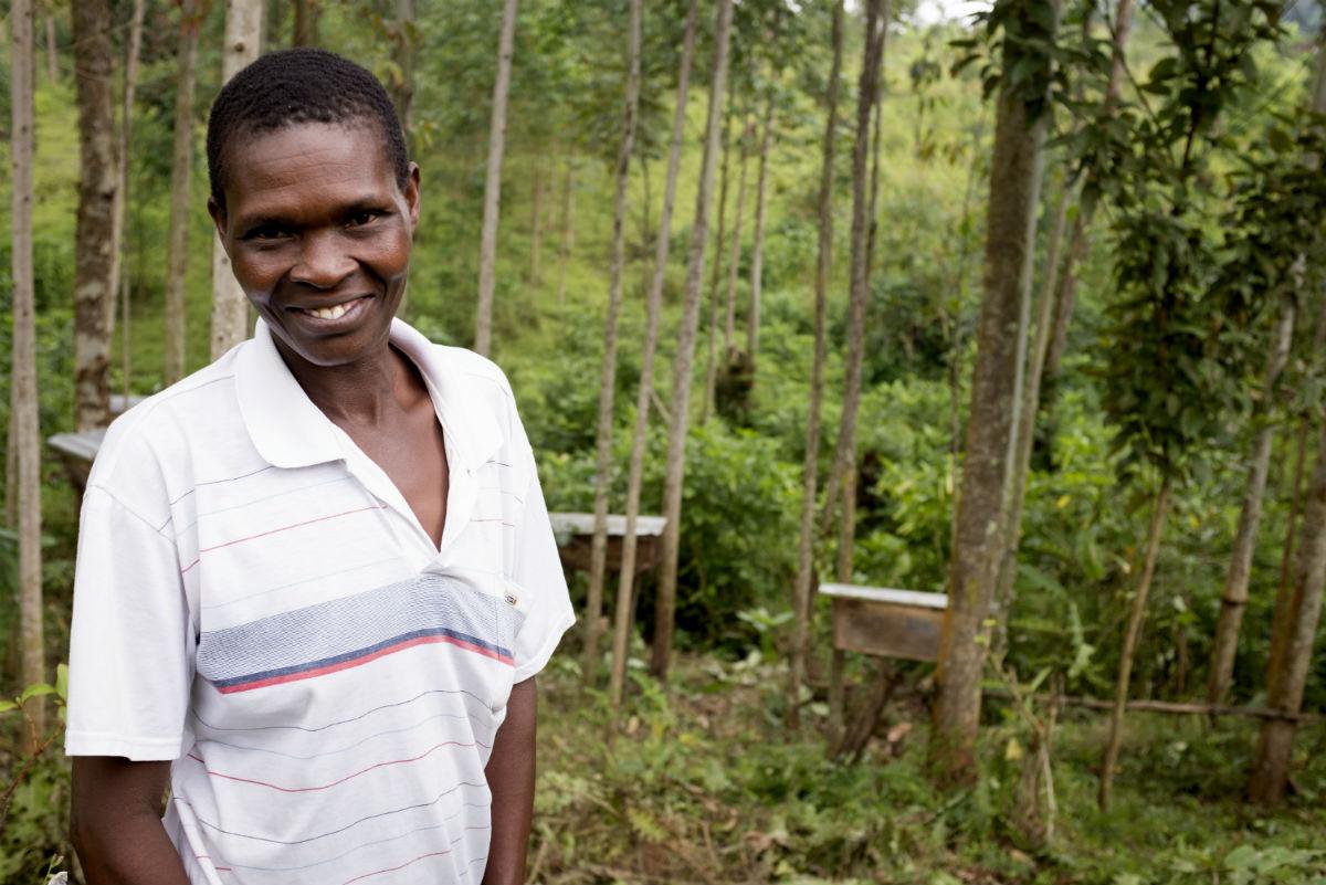 Beekeeper in Uganda