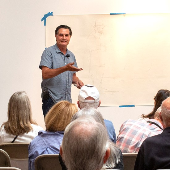 "Jim Vogel Artist Talk, July 2019 — ""The Creative Process and Debunking the Myth of the Muse"""