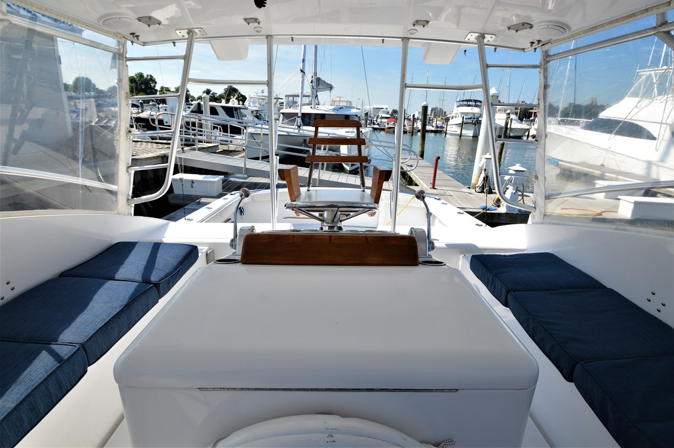 Looking Aft - 45 HATTERAS For Sale