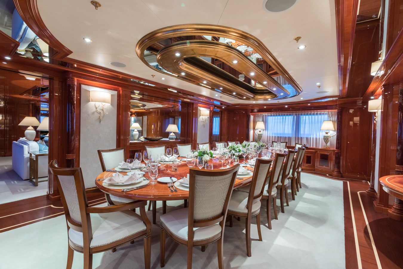 Main Deck Dining Area - 214 CODECASA For Sale