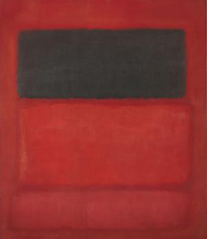 Mark Rothko. Black over Reds [Black on Red].