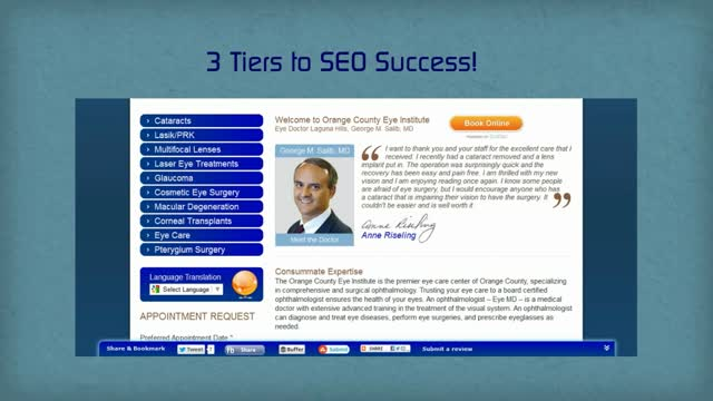 Rank High in Google- Three Tiers to Online SEO Success for Doctors & Dentists