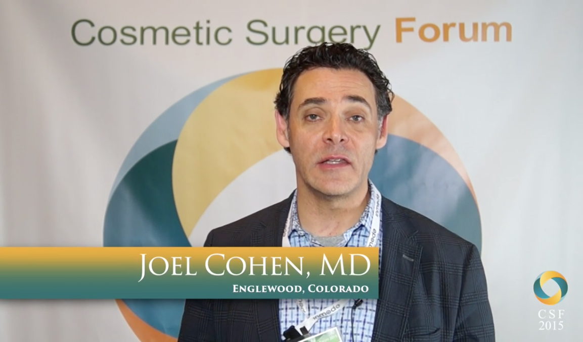 2015 Cosmetic Surgery Forum: Joel Cohen, MD