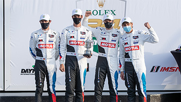 Podium finish for BMW Team RLL at the Rolex 24 at Daytona.<br />