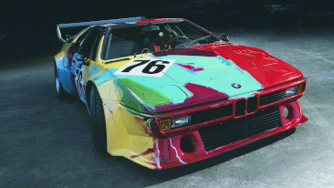 <p>The BMW Art Car by Andy Warhol, 1979</p>
