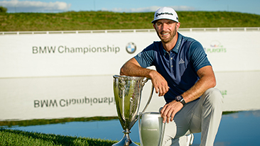Dustin Johnson Wins the 2016 BMW Championship at Crooked Stick Golf Club in Carmel, IN.