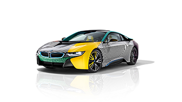 The Exclusive North American Premiere of the BMW i8 MemphisStyle at Frieze Art Fair New York.