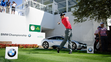 Past BMW Championship winners Rory McIlroy, Zach Johnson and Camilo Villegas Attempted to Recreate Arnold Palmer's Historic Drive Off the 1st Tee from the 1960 U.S. Open at Cherry Hills Country Club to Kick-Off the 2014 BMW Championship
