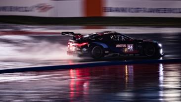 BMW Team RLL Scores Double Podium Finish at A Wet Motul 100% Synthetic Grand Prix; Bill Auberlen Serves Up IMSA Win No. 62.