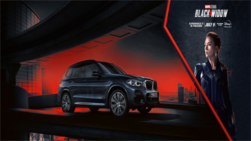 BMW teams up with Marvel Studios' Black Widow for a spectacular cinema experience.<br />