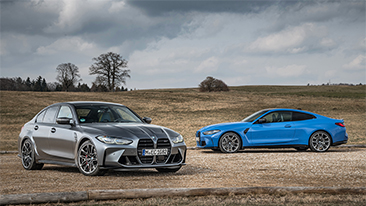 The new 2022 BMW M3 Competition xDrive and M4 Competition xDrive