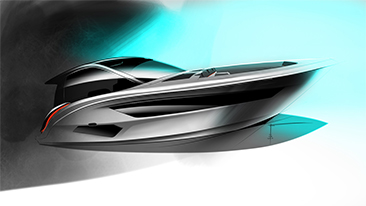 Designworks, A BMW Group Company, Collaborates with Sea Ray to Develop New Design Language.<br />