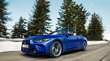The new 2022 BMW M4 Competition Convertible with xDrive