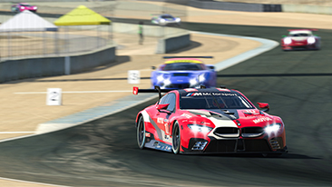 Top-three shut-out for the BMW M8 GTE in the second IMSA iRacing Pro Series race on the Laguna Seca virtual circuit.