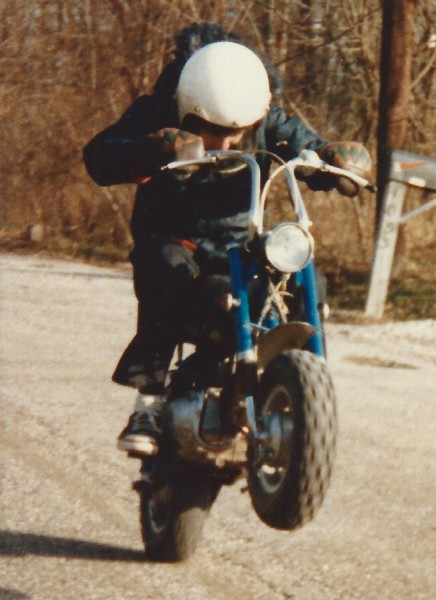 Stu Wheelie  on 1970 Honda Z50 K2 Mini-Trail -cropped