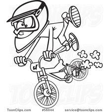 Black-and-white-cartoon-little-boy-catching-air-on-a-bmx-bike-by-ron-leishman-56044_mxw220_mxha_e0