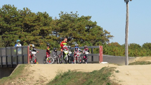 Training at Cape Cod BMX