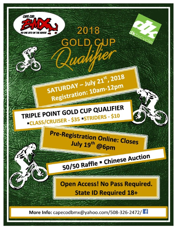 Gold Cup Triple at Cape Cod BMX