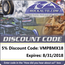 Please think of RockAuto.com when you need parts to maintain, repair or restore your vehicles. The discount code they have provided us with expires soon!  Shop Now ----> http://www.rockauto.com/?a=VirginiaMotorsportsPark