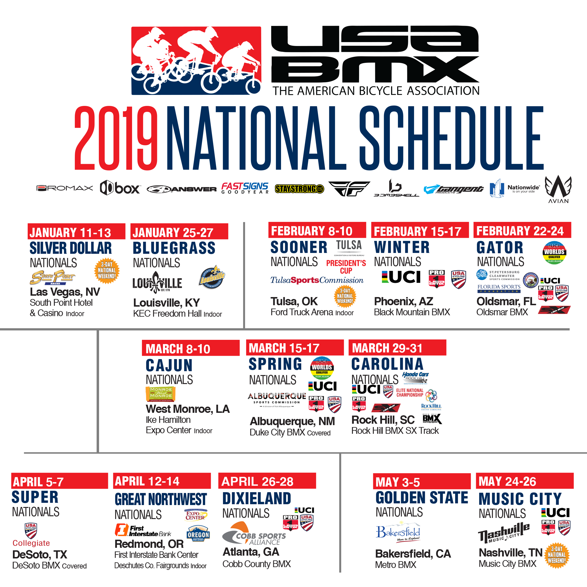 Calendrier Vip 2019.Usa Bmx Bmx Canada World S Largest Bmx Racing Organization