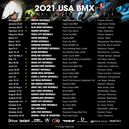 2021 USABMX National Schedule