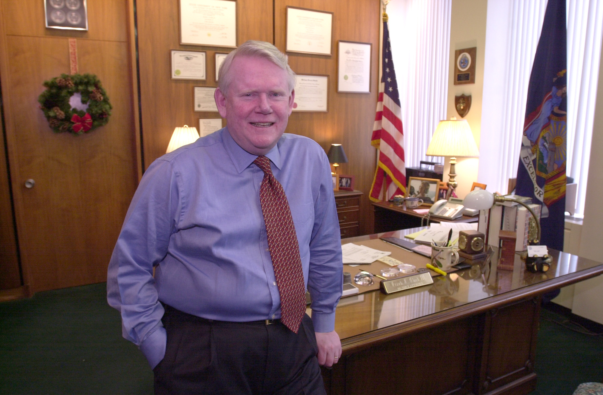 a105ced3e Erie County District Attorney Frank Clark in his office in 2001. A Canisius  High School graduate himself